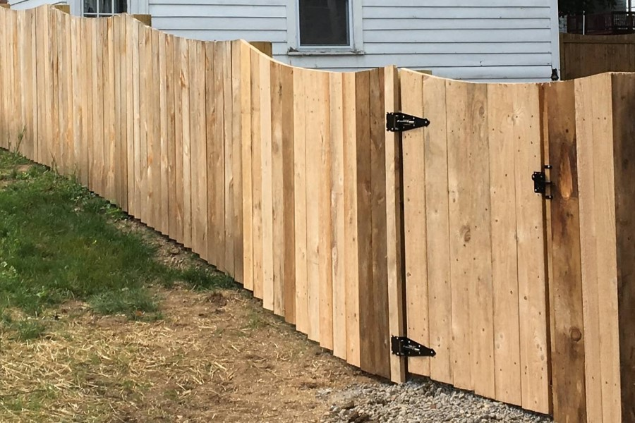 Wood Stockade Privacy Fence in Central NY